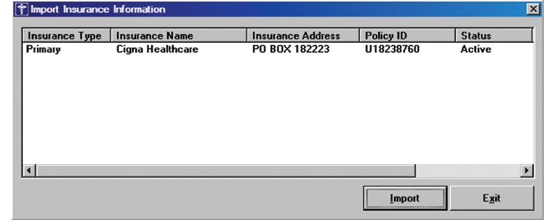 Patient Portal - Import Insurance