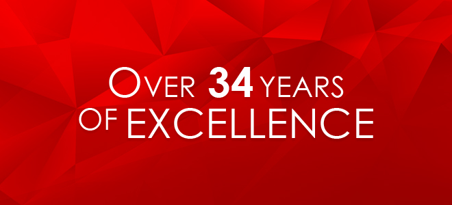 Over 34 Years of Excellence