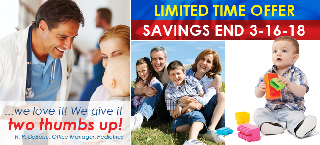 Family Practice Pediatric All Specialties Limited Time Offer